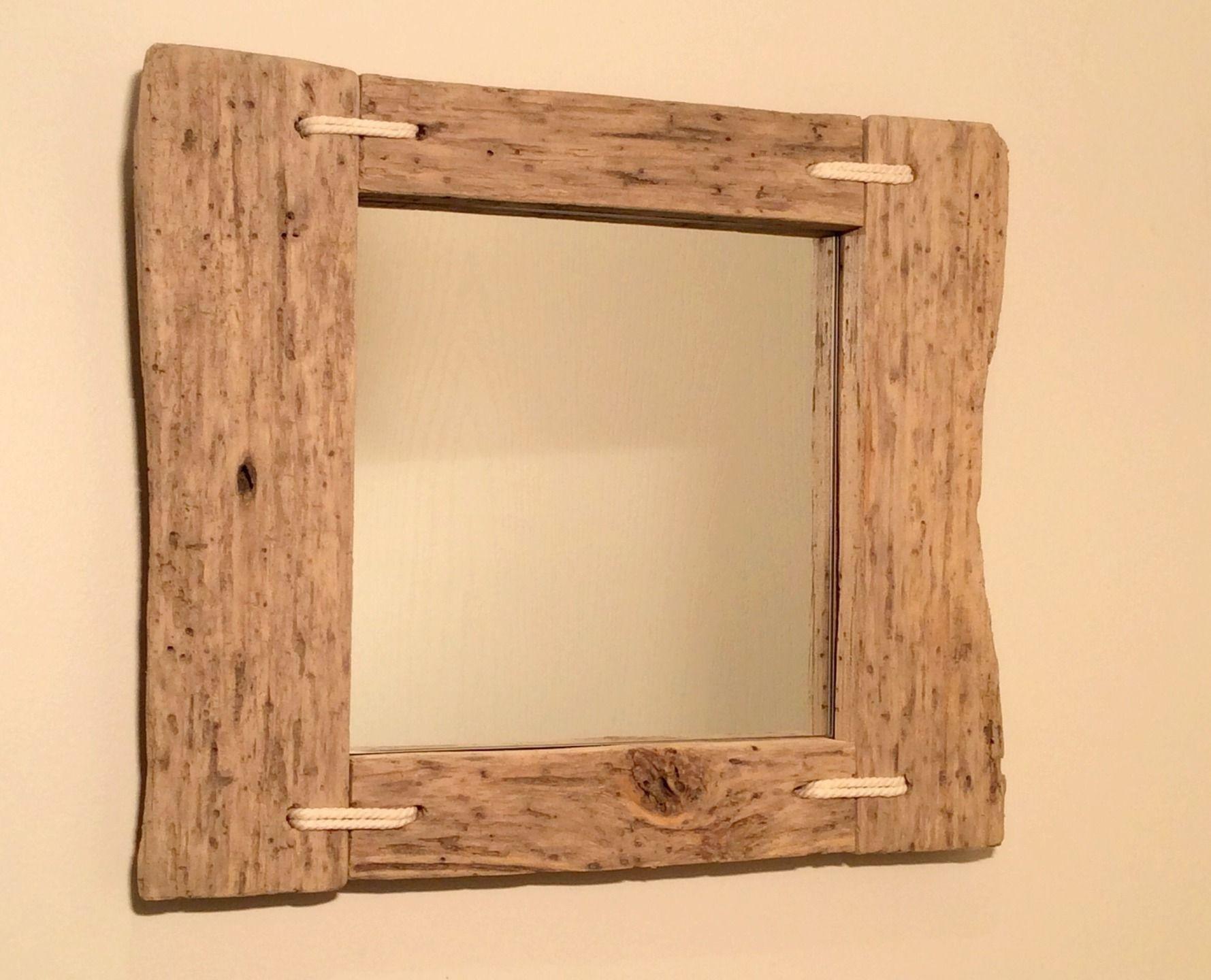 Miroir en bois flotté par l\'Atelier de Corinne : Décorations murales ...