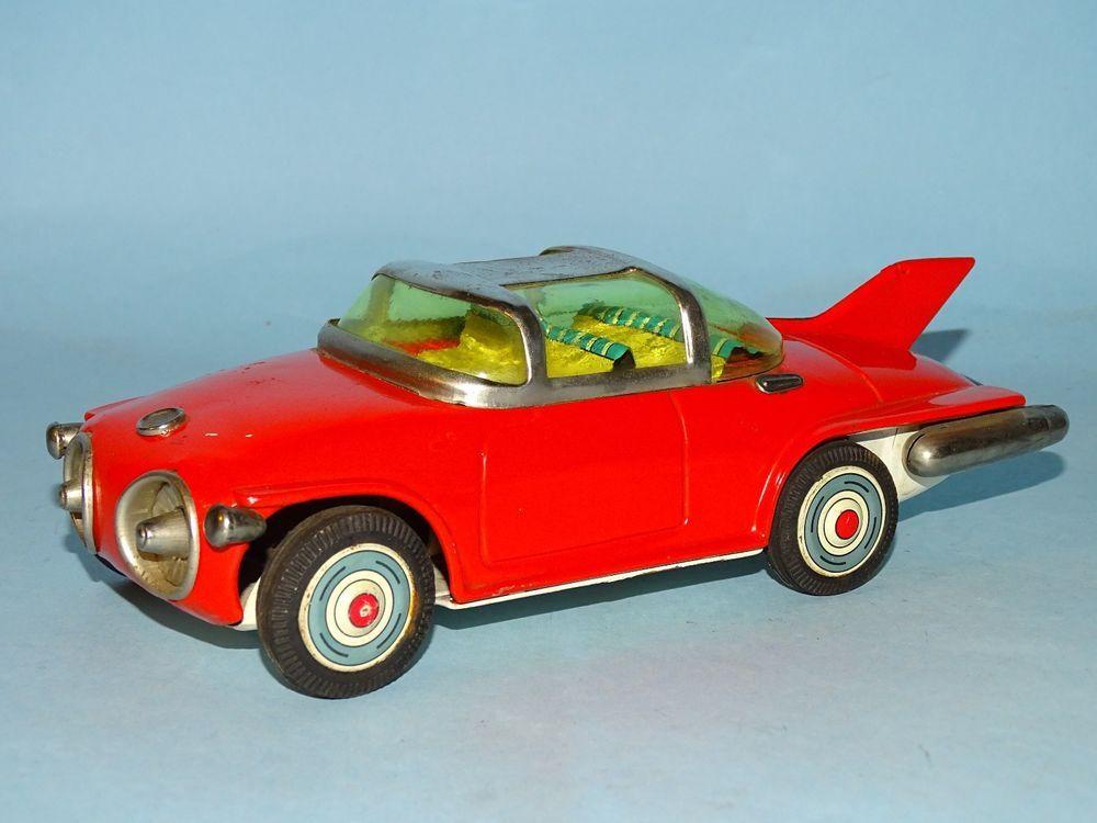 1950'S GENERAL MOTORS TURBINE CONCEPT CAR TIN FRICTION TOY ASAHI TOY