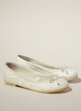 Pippa Lace Ballerina Bridesmaid Shoe Child Shoes Wedding