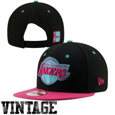 New Era Los Angeles Lakers Hardwood Classics Beet Root 9fifty Snapback Hat Black Pink Snapback Hats Snapback Lakers Hat