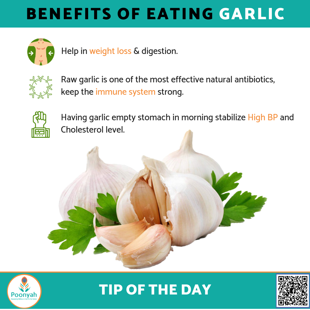 the health benefits of eating #garlic www.poonyah.co.in