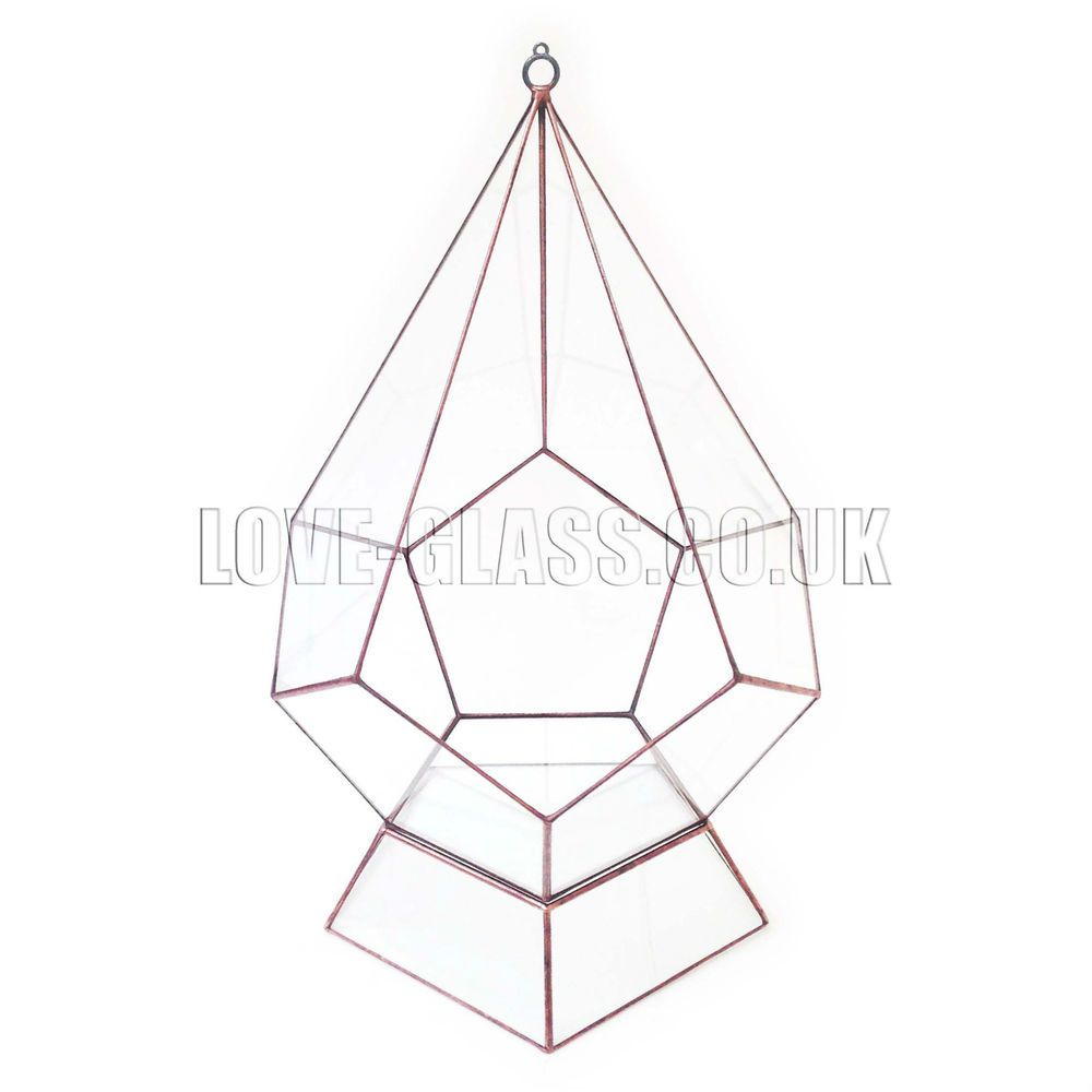 Teardrop with Stand Mega-sized Geometric Glass Terrarium / Modern ...