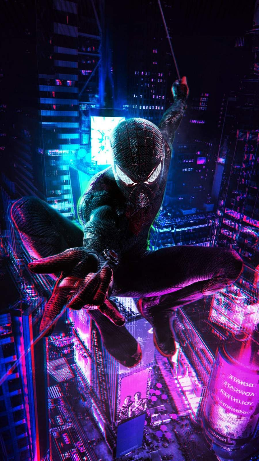 Spiderman Cyberpunk Iphone Wallpaper Fondo De Pantalla De Avengers Fondo De Pantalla De Humo Fondo De Pantalla De Nueva York