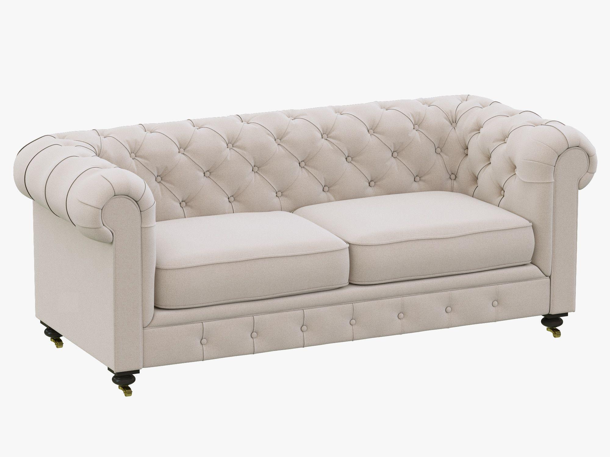 Restoration Hardware Petite Kensington Upholstered Sofa Model Available On  Turbo Squid, The Worldu0027s Leading Provider Of Digital Models For  Visualization, ...