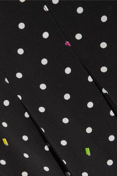 ae5bca55cc Sandy Liang - Uniform Cutout Printed Silk-crepe Skirt - Black ...