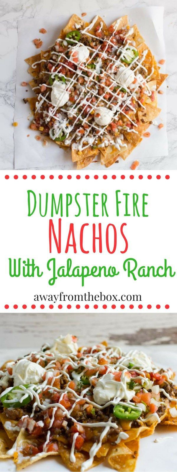 Dumpster fire nachos the perfect party food for any gathering the perfect party food for any gathering piled high with all kinds of junk including fiery jalapeno ranch forumfinder Choice Image