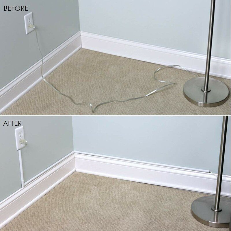 Cordmate Cord Cover Kit In 2020 Cord Hider Hiding Tv Cords On Wall Cord Cover