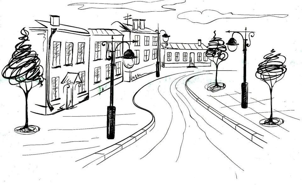 Livro de colorir Pintura Terapia - adult coloring pages  City
