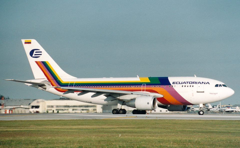 Ecuatoriana A310 Airline Logo Civil Aviation Commercial Aircraft