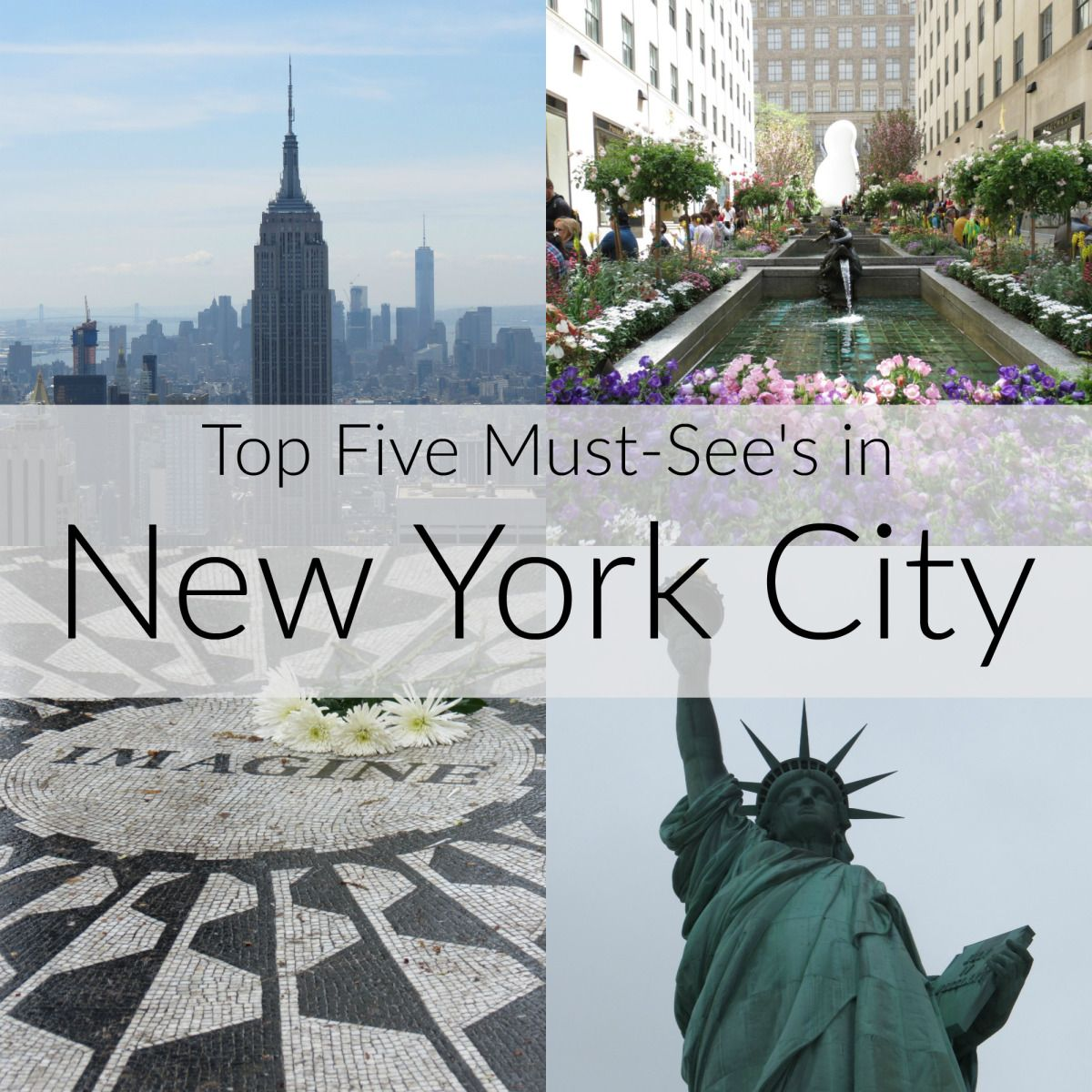 Our Top Five Must-See's in New York City! Great food, sights, and things to do in NYC. #weebeeadventures