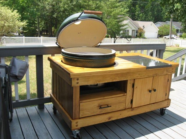 Big Green Egg Large Table Plans Thread Building A Table For A Big Green Egg  Big Green And Convenient Working And Serving Area For The Large Or XLarge  EGGs