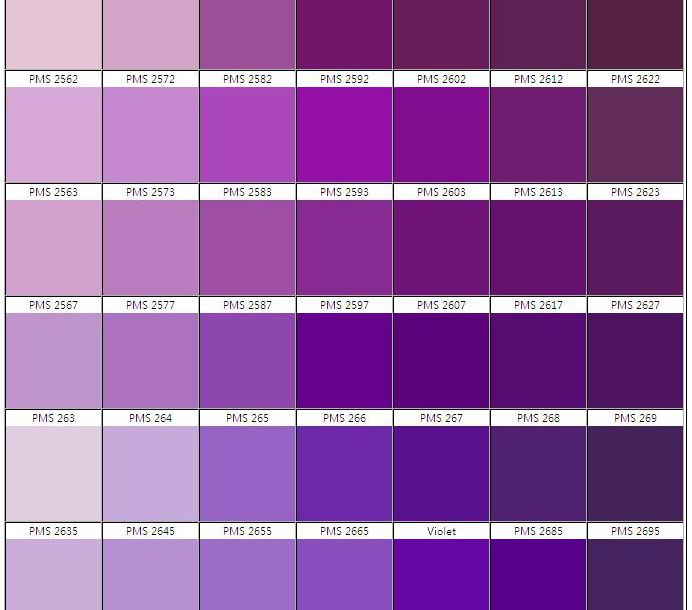amethyst color chart - photo #8