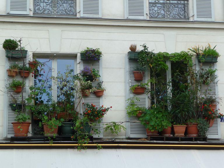 Jardin à La Fenêtre Dans La Rue Bichat (Paris 10e) Http://