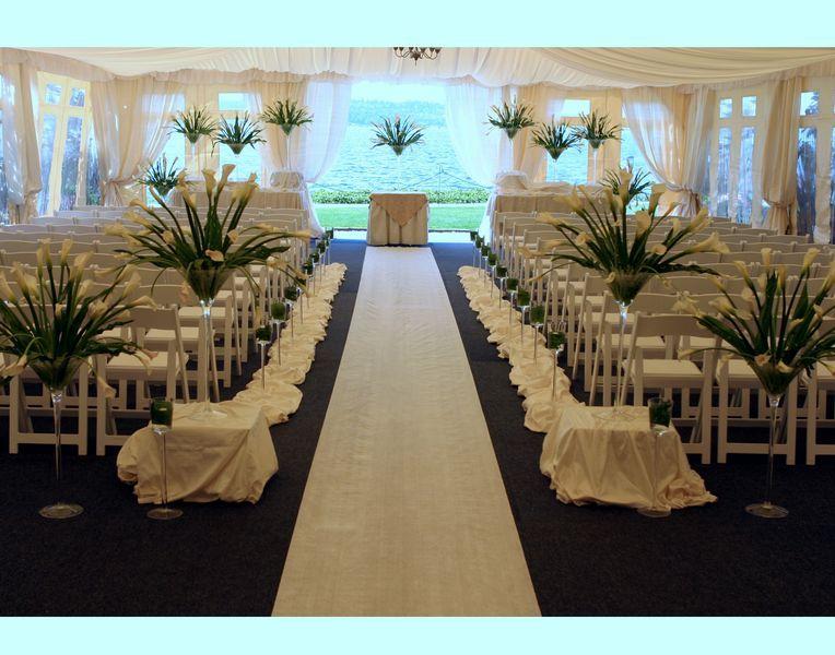 Outdoor Wedding Ceremony Decoration Idea