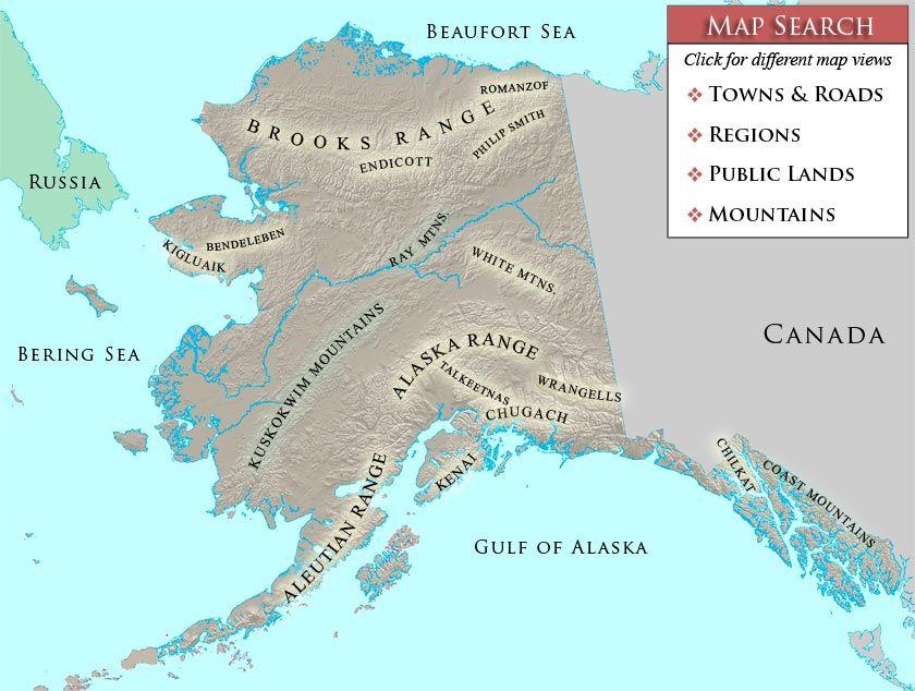 Search Alaska mountain photos from a map | Mountain photos ...