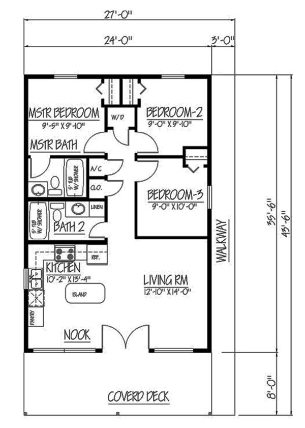 Cabin Style House Plan 3 Beds 2 Baths 852 Sq Ft Plan 1061 25 Loft Floor Plans Barndominium Floor Plans Farmhouse Floor Plans