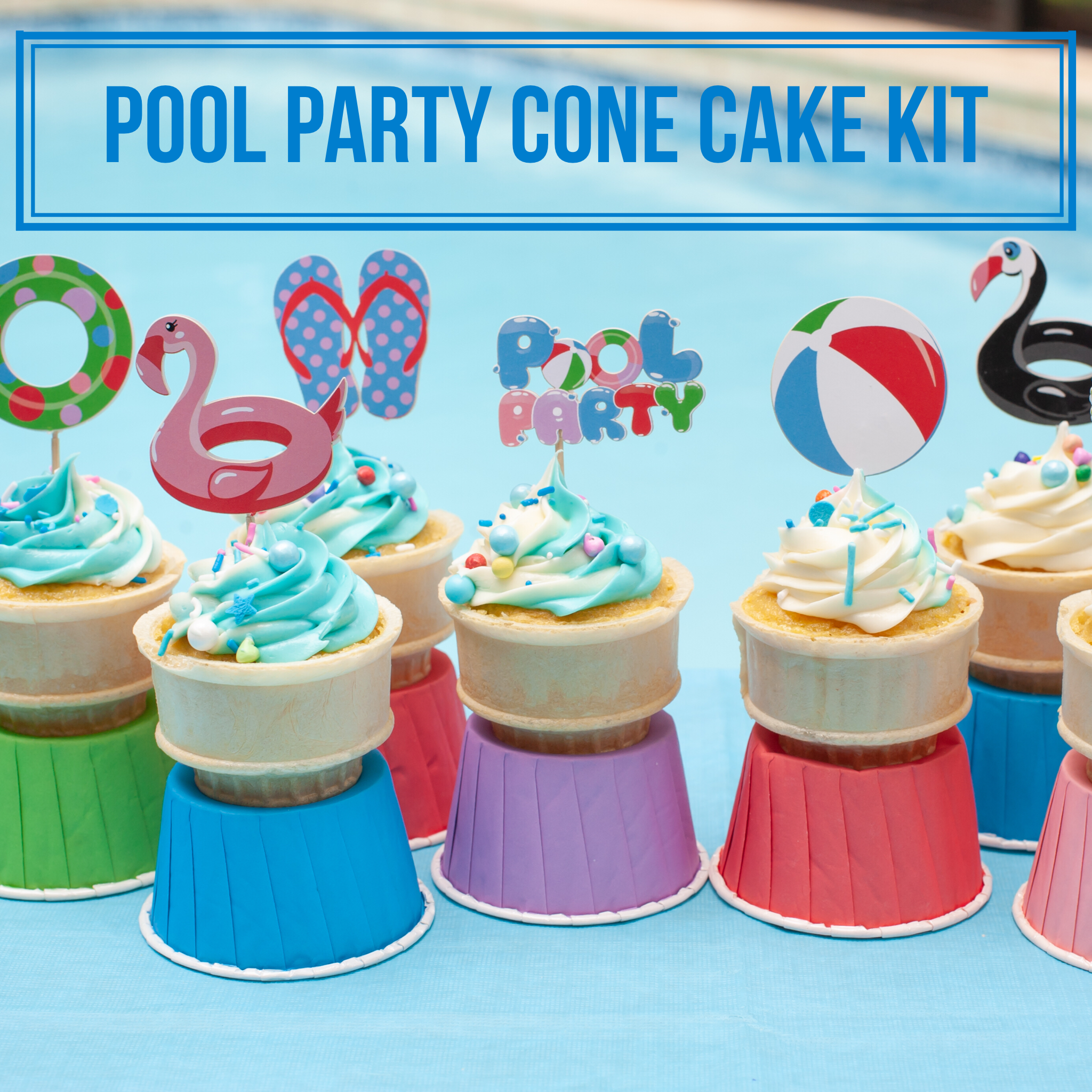 Love Bug Cone Cakes | Pool Party Ideas | Party, Cake, Party kit