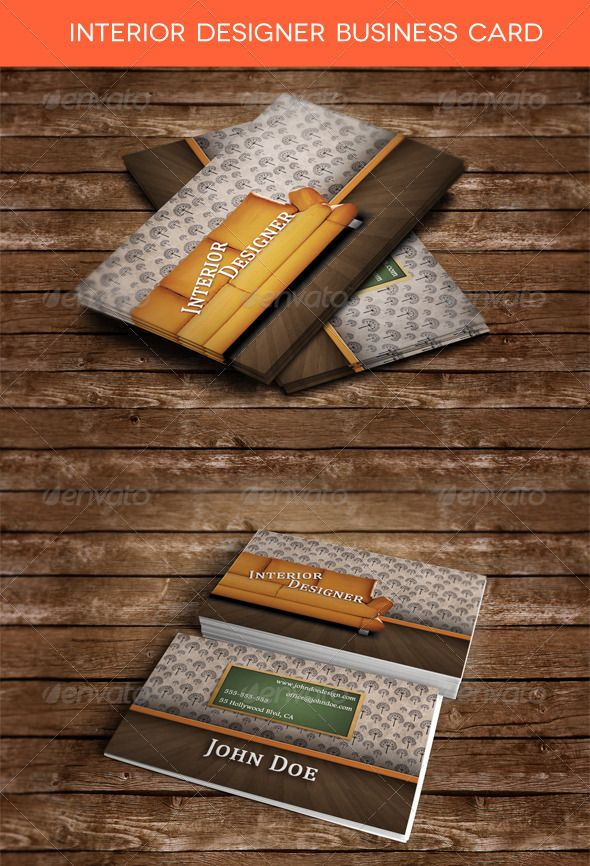 Interior Designer Business Card | Business cards, Business and ...