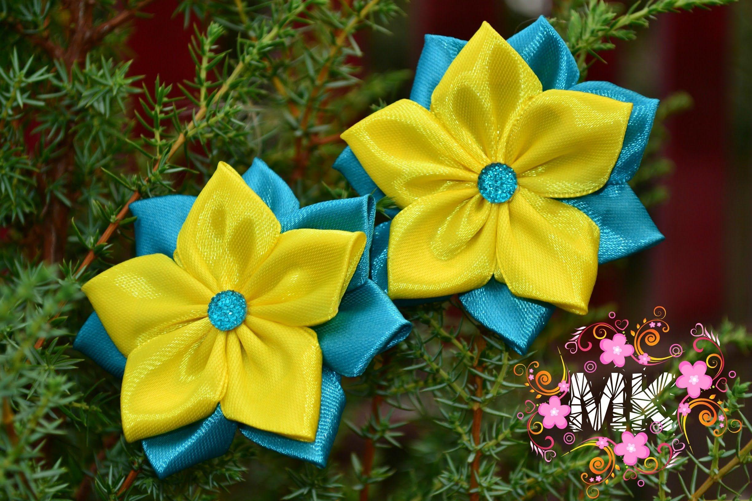 Казаші для початківців. Заколка в  кольорах  українсьського прапору.