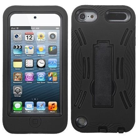 MYBAT Symbiosis Stand Case for Apple iPod Touch 5G - Black/Black