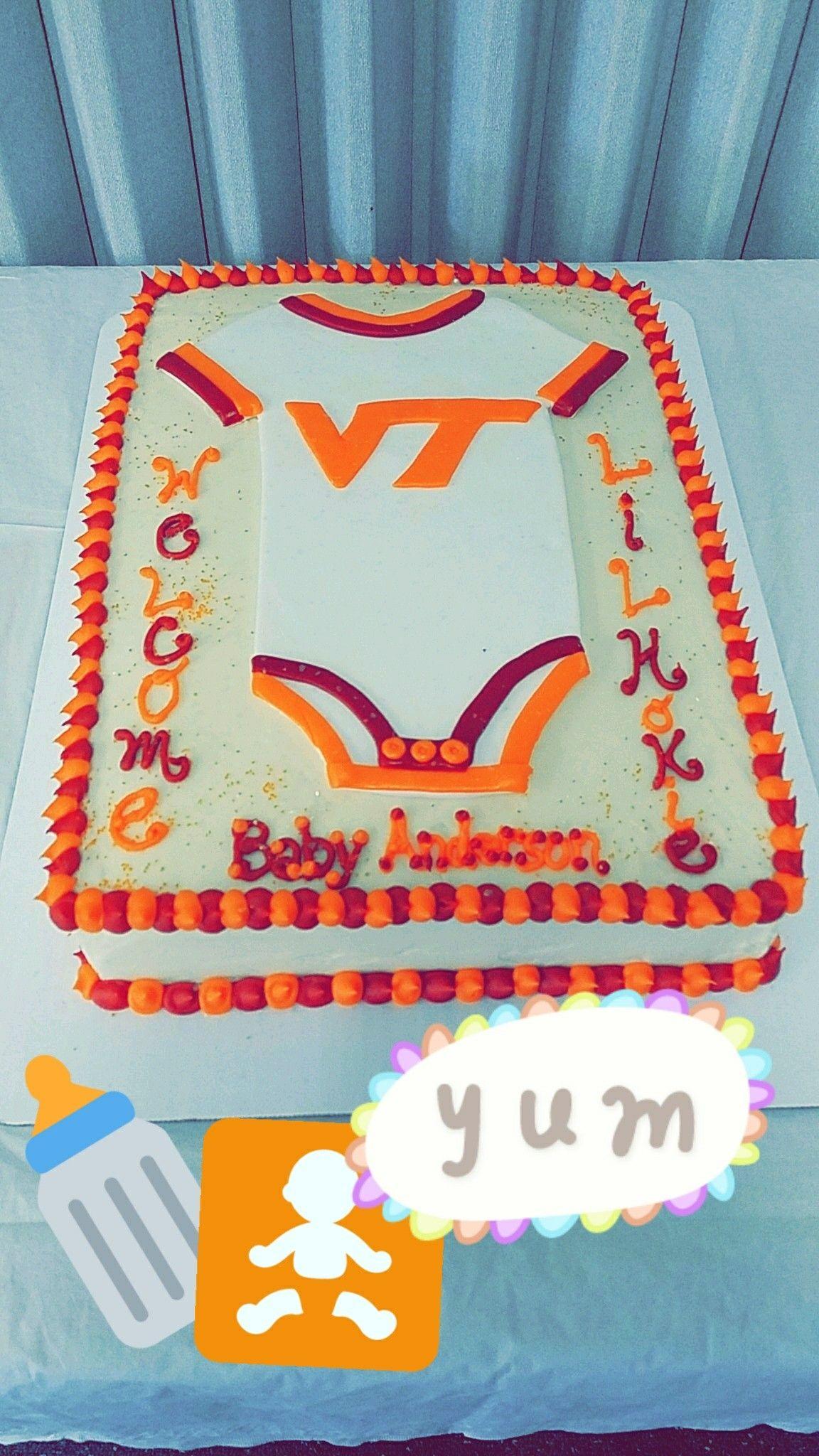 Virginia Tech Baby shower cake Hokie baby Hokie nation