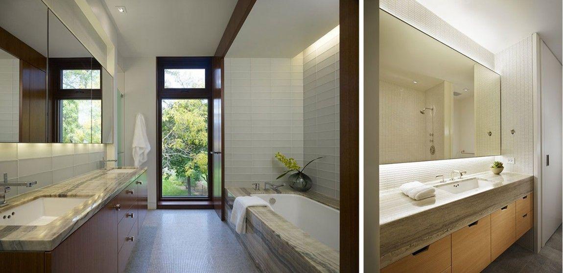 Bath nook    Lake Shore Drive House by Wheeler Kearns Architects (12)