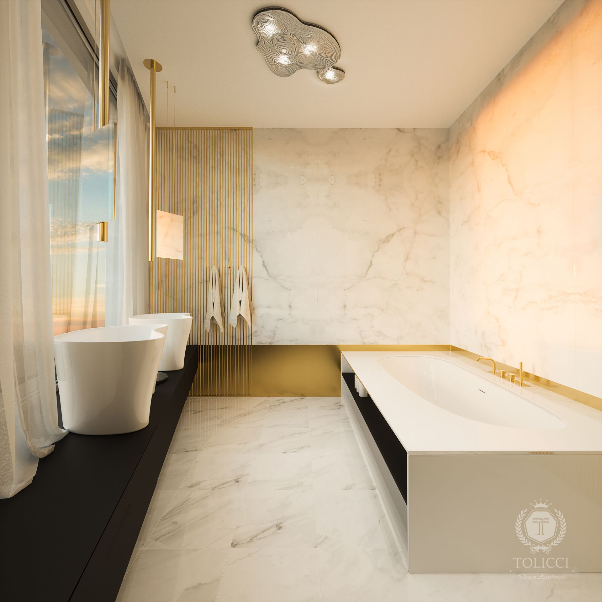 Tolicci Design Apartments Luxury Modern Bathroom Italian Design Interior Design Luxusna Mode Italian Bathroom Design Bathroom Design Color Bathroom Design