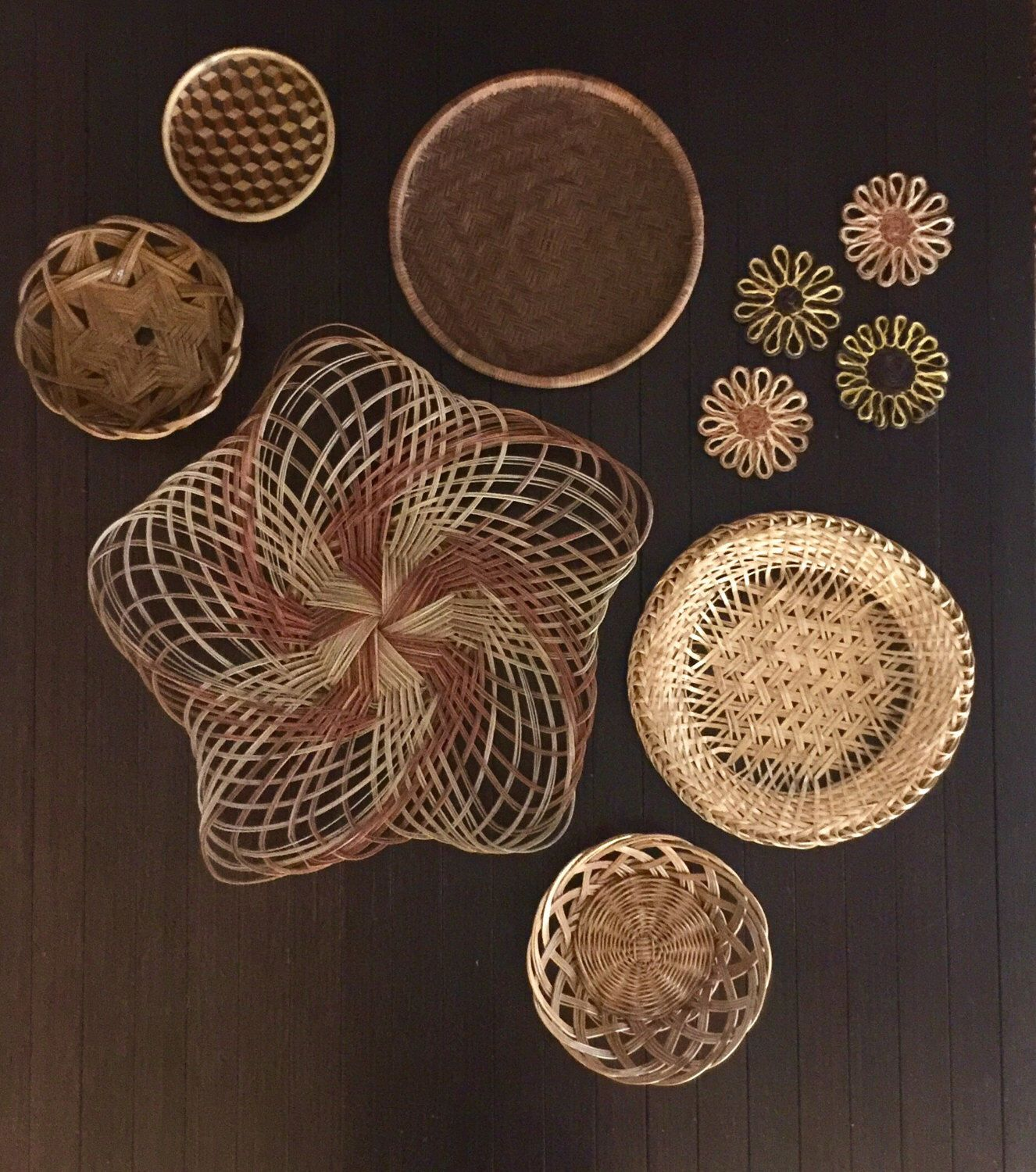 Enchanting 60 woven basket wall decor decorating inspiration of woven basket wall decor large star wall basket set jungalow woven baskets orange earth amipublicfo Choice Image