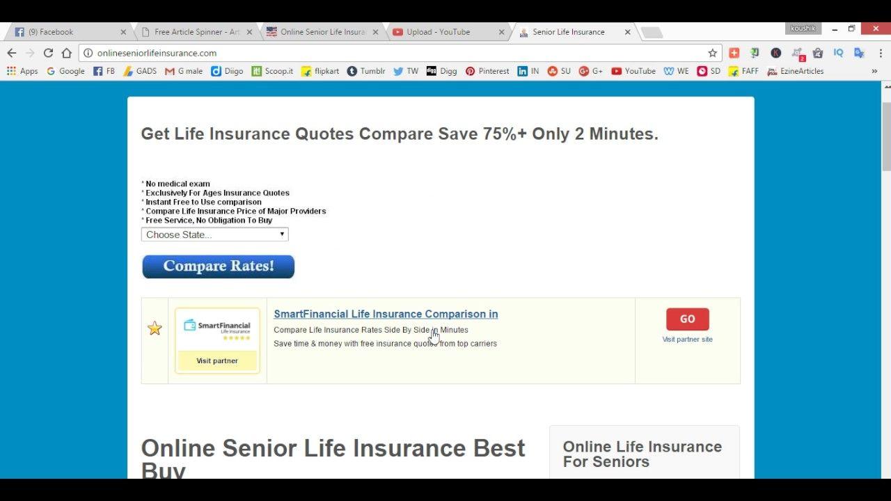 Online senior life insurance life insurance for seniors