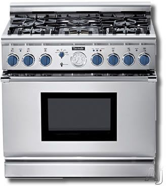 Thermador Prg366jg 36 Pro Style Gas Range With 6 Sealed Burners 22 000 Btu Power Burner Extralow Simmers 5 7 Cu Ft Thermador Appliance Repair Gas Cooktop