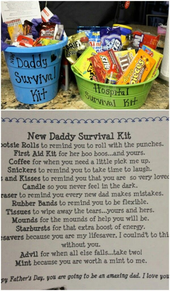 New Daddy Survival Kit | Tasja | Pinterest | Baby geschenke ...