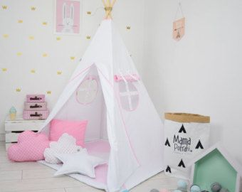 Playtent Tent For Kids Tent Play Teepee Reading L& Tee Pee Teepee Tent Ready To Ship Teepee Pink Teepee Tent For Girls Wigwam  sc 1 st  Pinterest & Playtent Tent For Kids Tent Play Teepee Reading Lamp Tee Pee ...