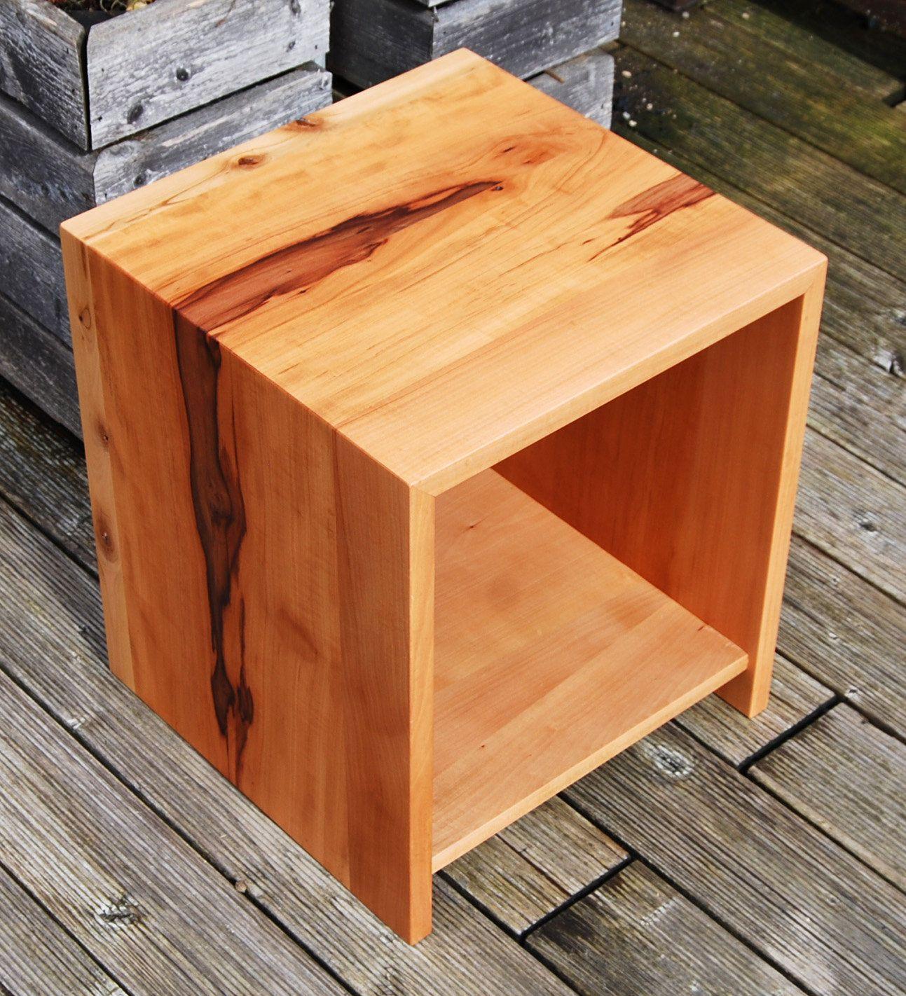 Hocker Nachtkästchen Nachttisch Beistelltisch Holz massiv