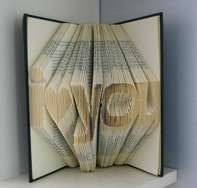 Brilliant Sculptures On Folded Book Art By Luciana