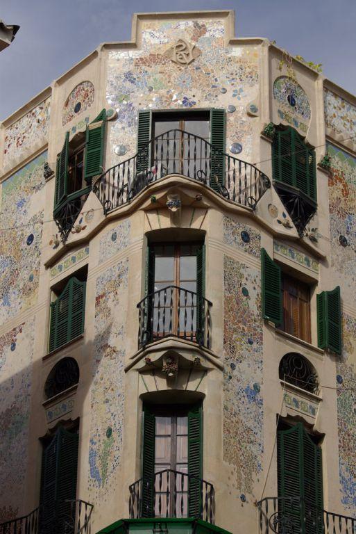 Eines der Gaudí-Häuser in Palma Bilder Sonstige Gebäude Altstadt Palma de Mallorca