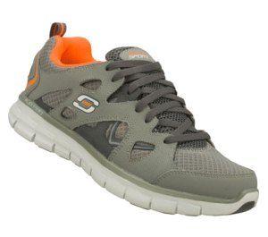 Men's Skechers Synergy - Gridiron - Orange Gray