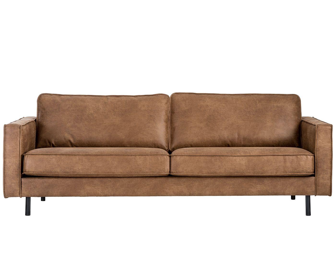 Sofa Hunter 3 Sitzer In Braun Aus Recyceltem Leder Westwingnow Leder Wohnzimmer Sofa Leder
