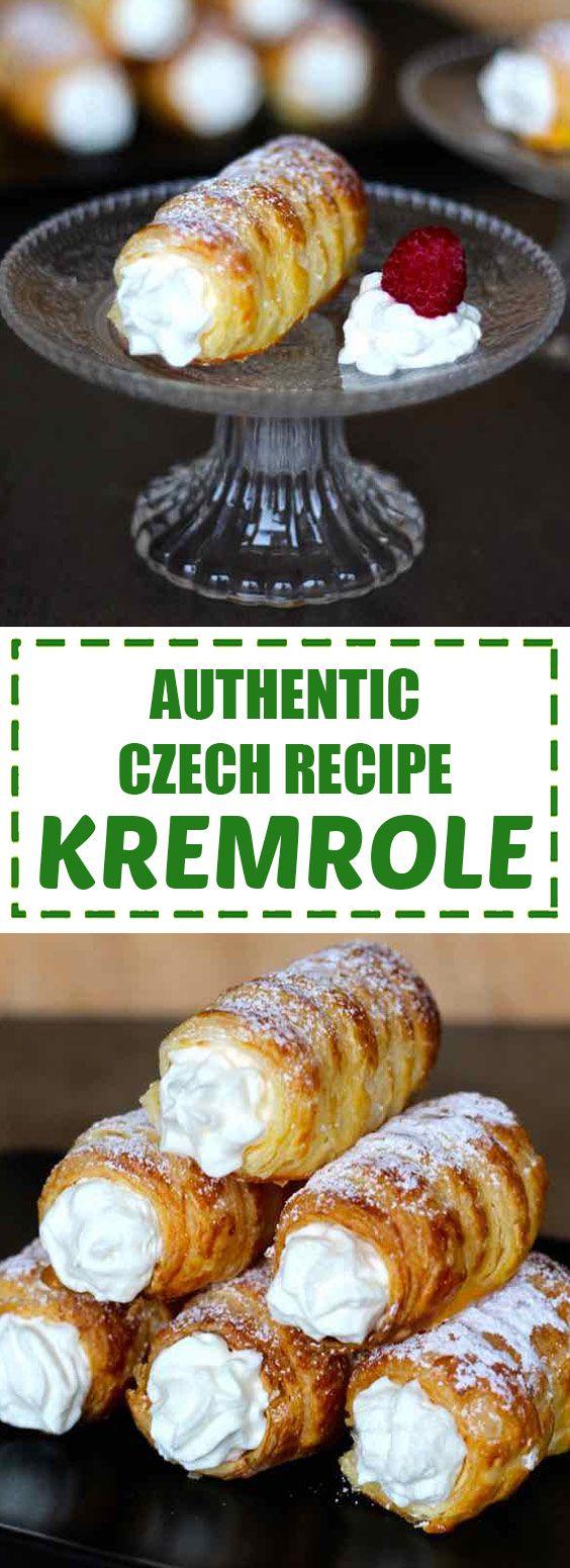 Authentic Czech Recipe Kremrole #czechrecipes
