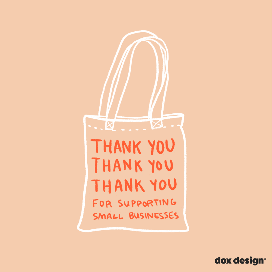 Support Small Businesses, Social Graphic