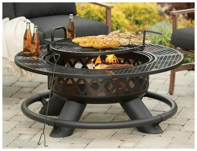 Shinerich Industrial Srfp96 Ranch Fire Pit With Grill 47 In As