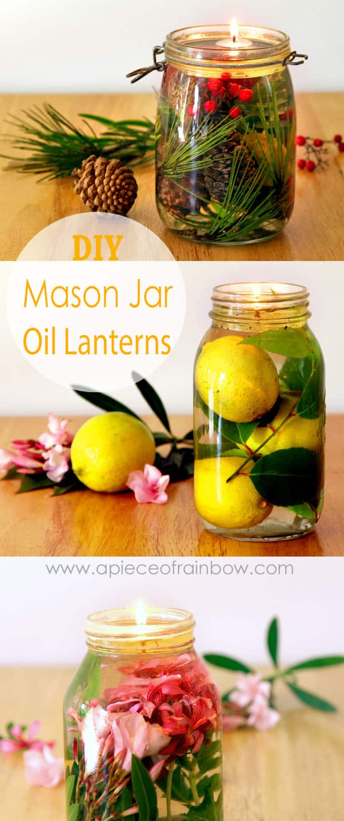 Magical Mason Jar Oil Lamp ( 2-Minute DIY Oil Candles! ) - A Piece Of Rainbow