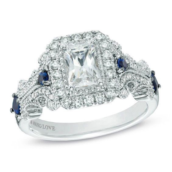 7b394230ac74d Vera Wang Love Collection 1 CT. T.w. Emerald-Cut Diamond Engagement ...