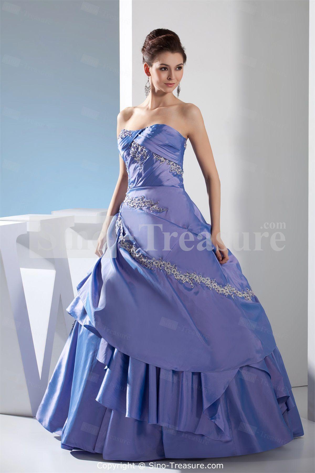 Light blue hourglass beading floorlength sleeveless prom dress i