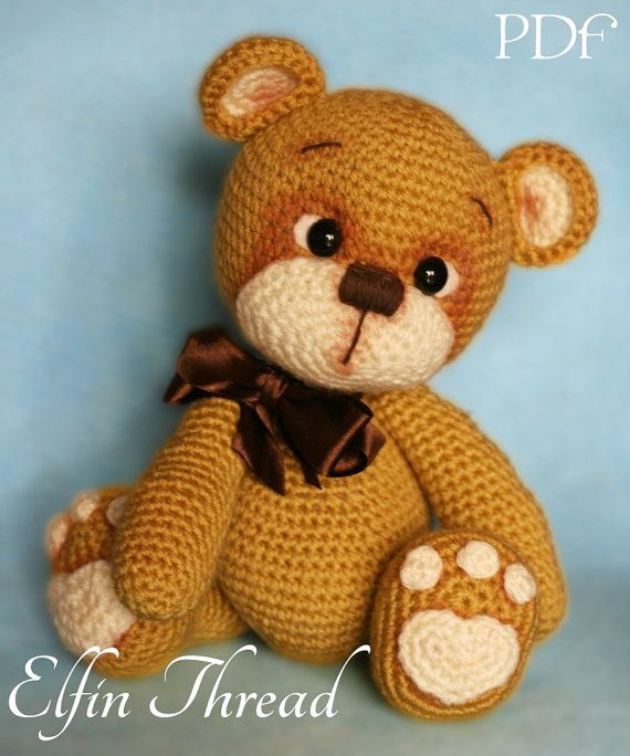 elfin thread teddy bear amigurumi pdf pattern bear crochet pdf pattern jenny pinterest. Black Bedroom Furniture Sets. Home Design Ideas
