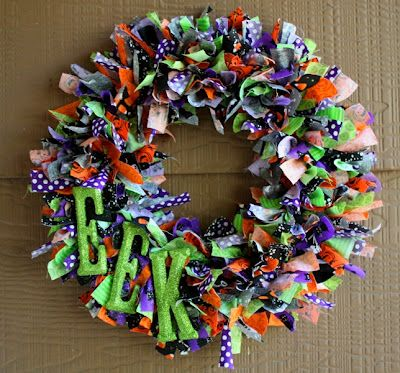 Photo of Christy: How to make a Halloween Ribbon Wreath