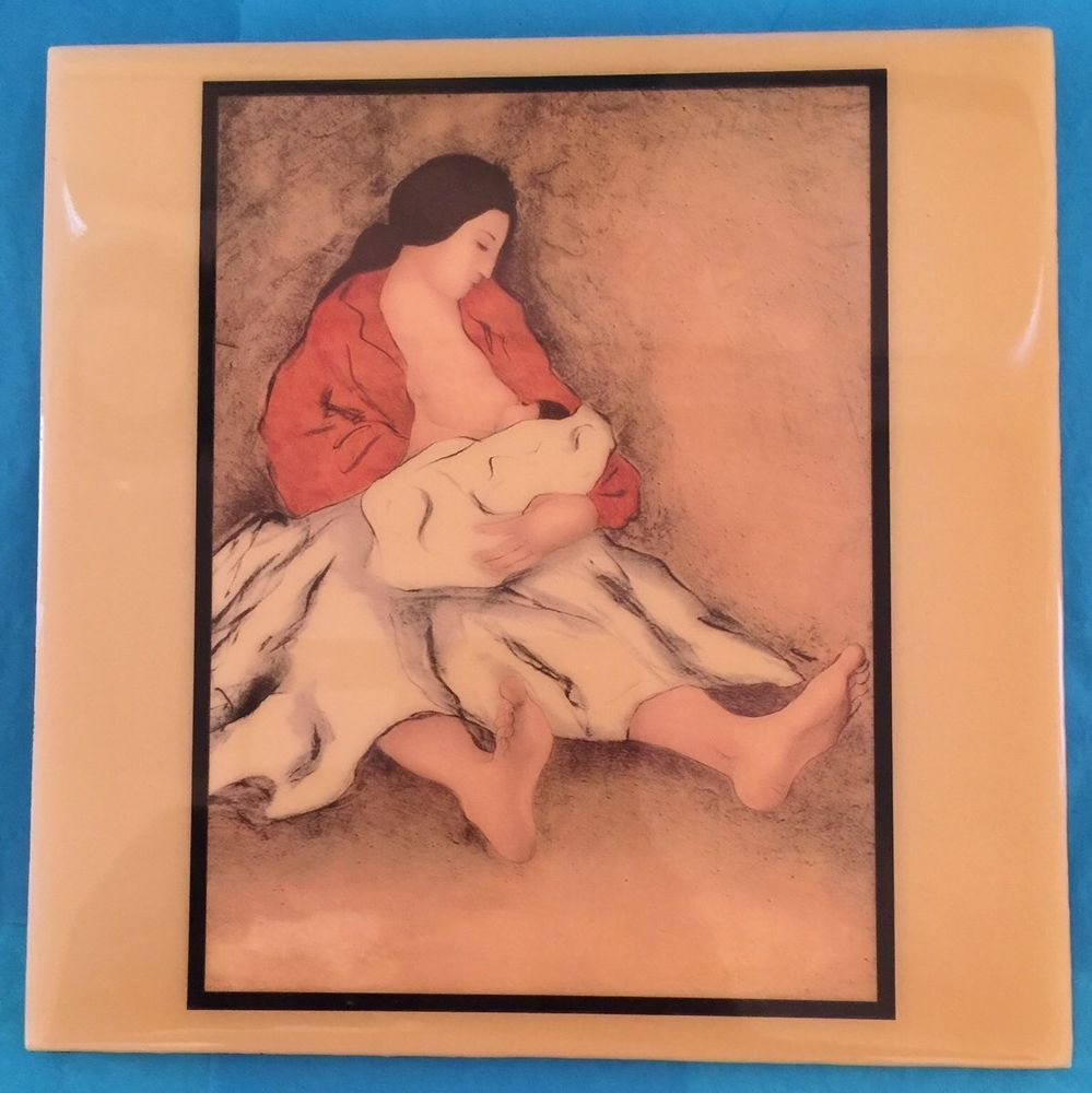 Rc gorman art tile navaho nursing mother and child breastfeeding r c gorman art tile navaho nursing mother and child breastfeeding made in usa ebay dailygadgetfo Image collections