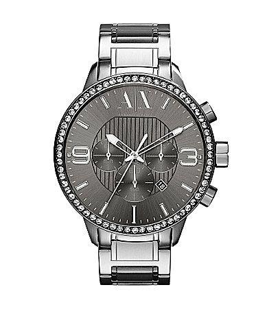 dec4331a8265 AX Armani Exchange Mens Grey Chronograph Watch  Dillards ...