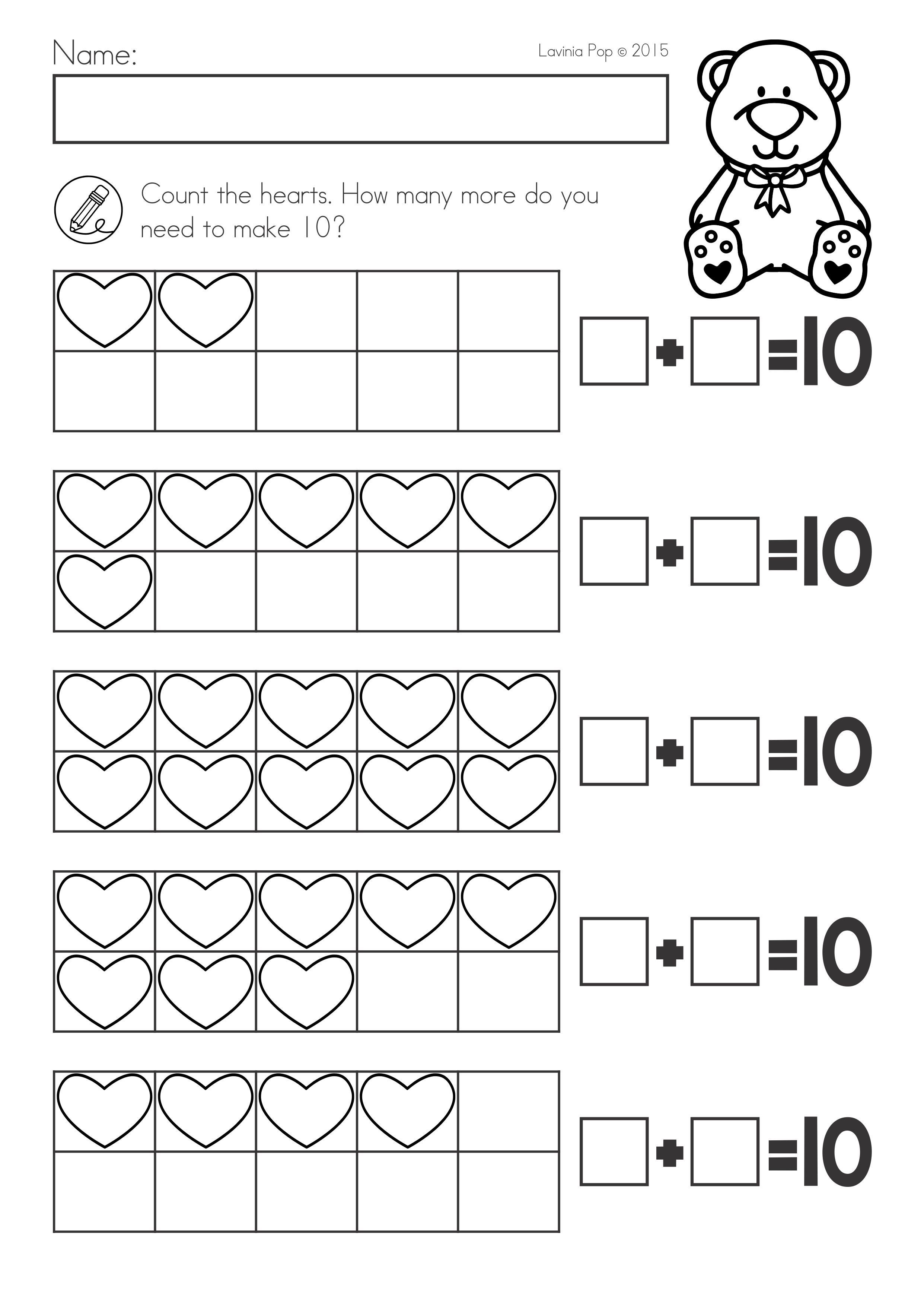 Valentine S Day Math Literacy Worksheets Activities No Prep Ten Frame Add Literacy Worksheets Numbers Kindergarten Kindergarten Worksheets Free Printables [ 3515 x 2482 Pixel ]
