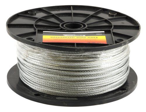Forney 70446 1 8 Inch Galvanized Wire Rope Aircraft Cable 500 Feet Welding Accessories Galvanized Forney