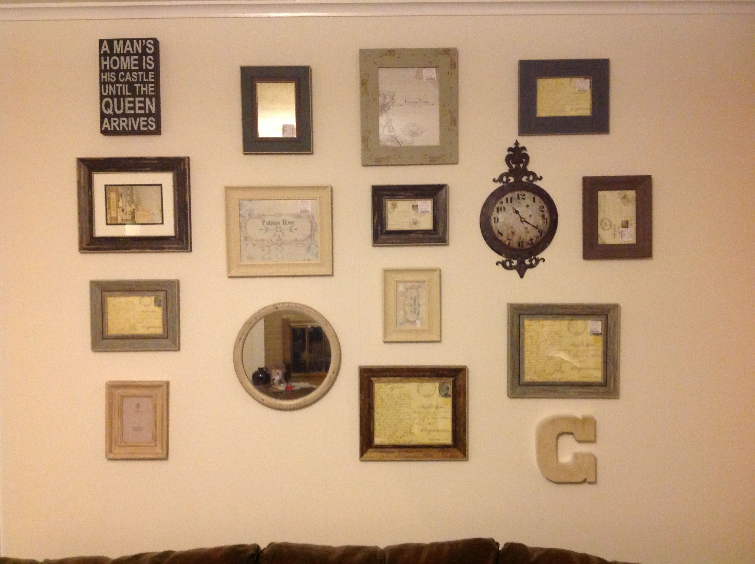 My first picture frame wall collage!! | For the home | Pinterest ...